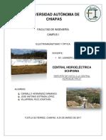 Reporte de Central Hidroelectrica  schpoina