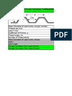 AcmeLeadScrewCalculator Unified ASME ANSI B1.5 1988