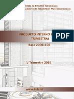 Pib IV Trimestre 2016