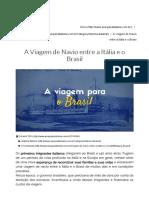 A Viagem de Navio Entre a Itália e o Brasil - Pesquisa Italiana