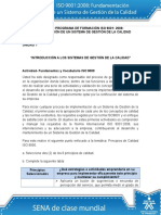 - ISO 9000 fundamentos