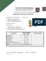 Practica 2 Calculo Dietetico 6IV1 EQUIPO 2