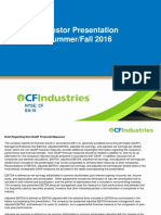 CF Industries Presentation August 8 2016