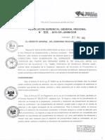 Resolucion Gerencial General Nº 111-2016-Gr-junin Ggr
