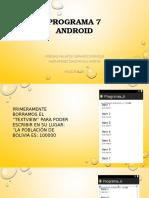 Programa 7 de Android