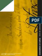 Brochure Letras UCSF