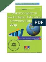 UNESCO WHEUR World Higher Education University Ranking Top 1000 Universities in the World