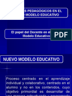 MODELOS PEDAGÓGICOS EN EL MODELO EDUCATIVO