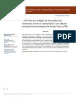 Perfil de Estratégias de Inovação Das Empresas Do Setor Alimentício Um Estudo Amostral No Município de Ponta GrossaPR