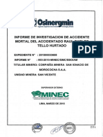Informe de Investigacion de Acc. Mortal Geomecanica