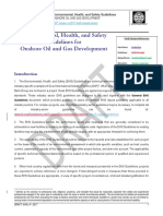 Onshore Oil and Gas EHS Guideline - Comparison Between Draft Revised and 2007 versions