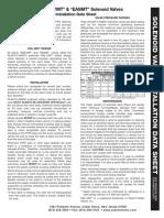 Installation Data Sheet