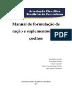 Manual de formulação de ração e suplementos para coelhos