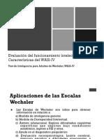 Caracteristicas WAIS IV