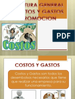 Estructura General de Costos y Gastos de Promocion