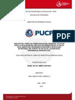 Analisis Del Perfil de Competencias Del Personal de Salud Para La Aplicacion Del Enfoque de Promocion de La Salud - Pucp