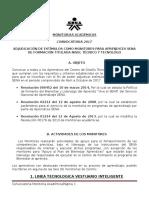 Convocatoria Monitoria Académica CDTI 2017