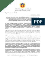 Comunicado del Sec. Gral. del Cabildo Interreligioso de Colombia