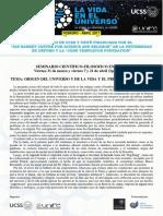 Seminario UNIFE - Presentación y Programa