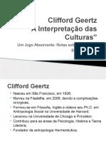 Clifford Geertz - Um Jogo Absorvente