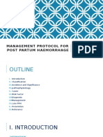 Management Protocol for Post Partum Haemorrhage