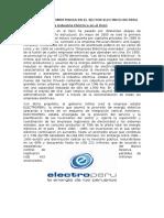 Analisis de Competencia en El Sector Electrico en Peru