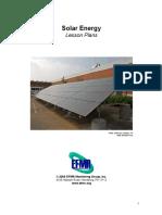 solar energy lesson plans