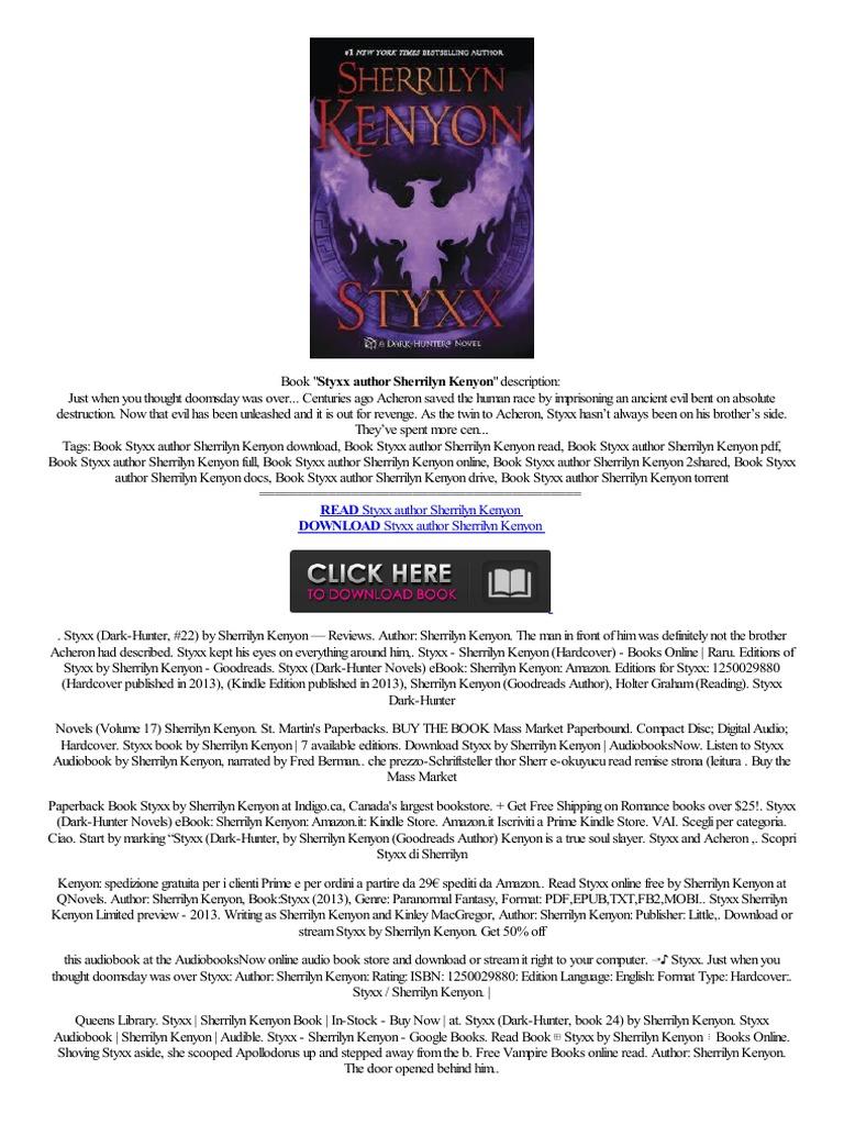 (link) Styxx Author Sherrilyn Kenyon,alienisch Zondertaling,kapitel  Pre�o Baixo Libro,electronico Libro  Audiobook  Amazon Kindle