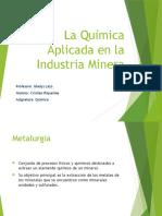 La química aplicada en la industria minera