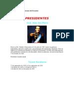 Historia Del Los Gobiernos Del Ecuador