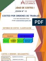 SESION Nº 12 - Costeo de Ordenes Por Trabajo