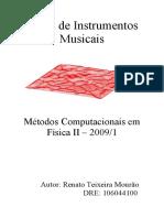 Fisica de Instrumentos Musicais Relatorio