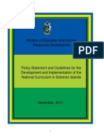 2011 Curriculum Policy