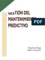 Gestion Mantenimiento Predictivo