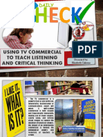 Tv Commercials to Teach Listening and Critical Thinking
