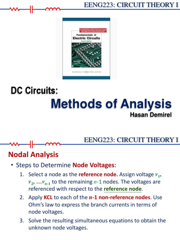 Eeng223 Lec03 Methodsofanalysis Network Analysis Electrical Circuits Nodal