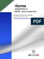 Informe Economico y Social - Octubre 2016