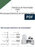 Ciencia e Tecnologia de Materiais - Quimica Eng Prod - Microscopias