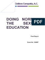Doing Normal the Sexual Education_final Report