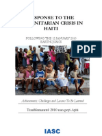 Additional Resources- IASC- Response to the Humanitarian Crisis in Haiti[1]