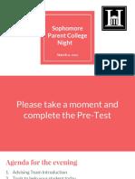 sophomore college parent night presentation