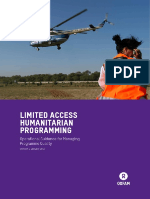 Limited Access Humanitarian Programming: Operational