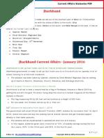 Jharkhand Current Affairs 2016(Jan-Mar)