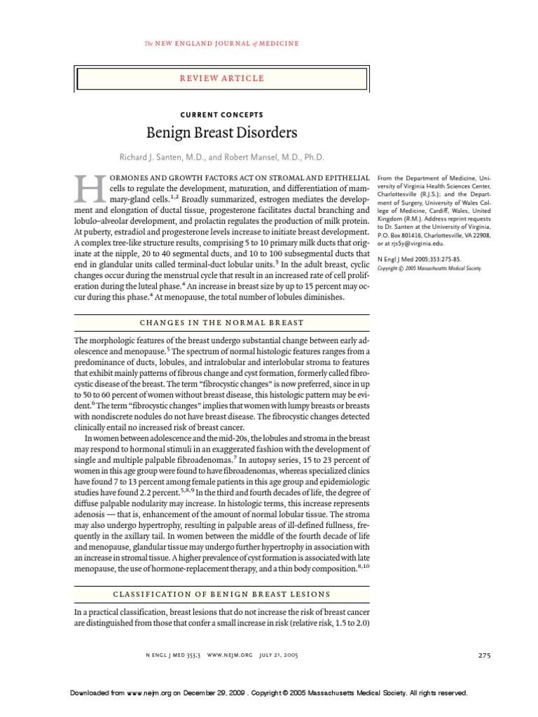 Literature review kanser payudara