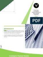 Financing - Investigator Payment Models & Best Budget Practices