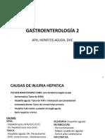 Gastro 2 - Alt PH, Hepatitis Aguda, DHC y Complicaciones (1)