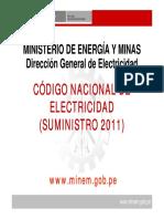 Revisión Del CNE- Suministro 2011