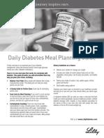 Diabetes DailyMealPlanningGuide English