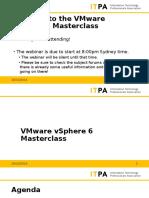 ITPA Online Short Course - VMware VSphere 6 Master Class (Week 4)