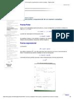 1.4 Forma Polar y Exponencial de Un Numero Complejo